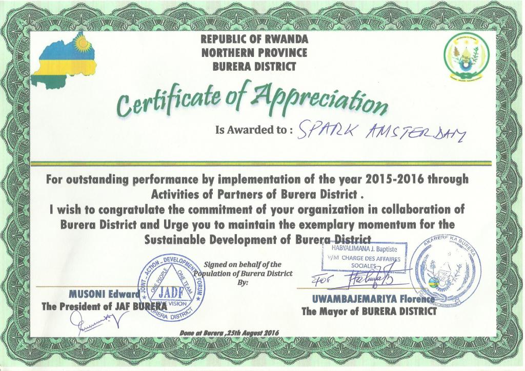 CertificateRwanda